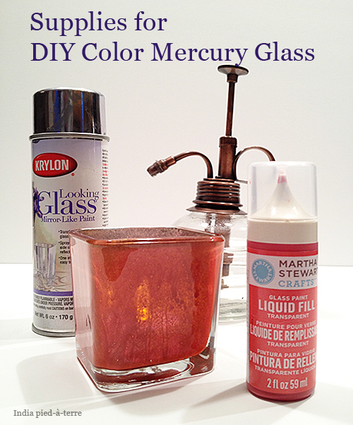 Supplies to Make Colored Mercury Glass