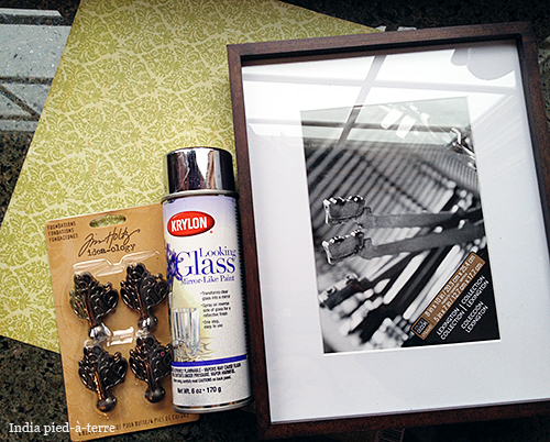 Diy Antique Mirror Tray With Picture Frame Amp Krylon