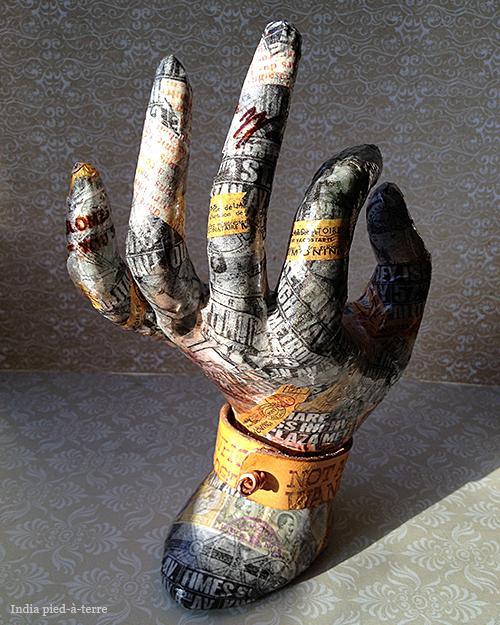 Washi Tape Hand Jewelry Holder