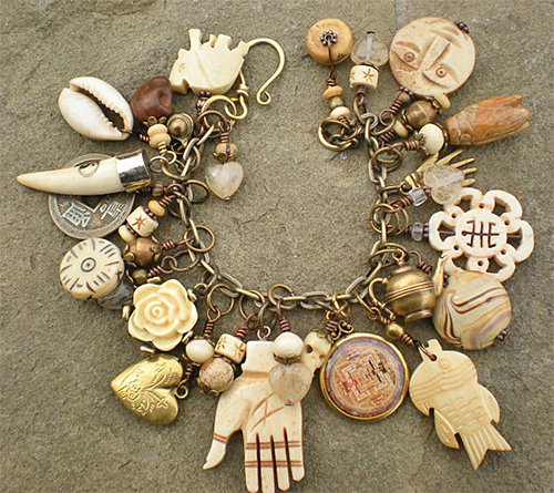 Charm Bracelet from maggiezees shop on etsy