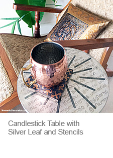 DIY Candlestick Table