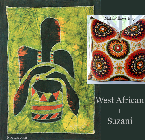 West African Batik and Suzani Style