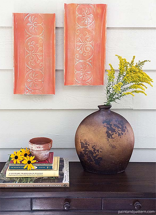 Wall Art Like Aged Terra Cotta Pots