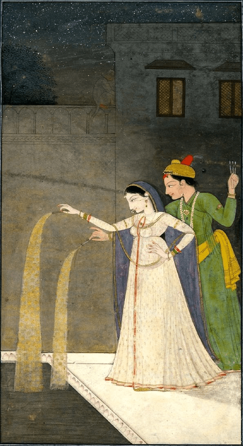 Lovers with Fireworks Painting on paper via British Museum