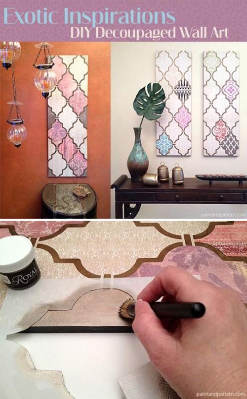 Decoupaged Wall Art