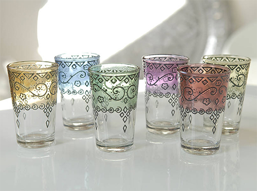 Moroccan Mint Tea Glasses from Not on the High Street