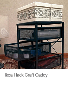 DIY Ikea Hack Craft Caddy