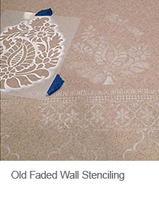 Old Faded Wall Stenciling Effect