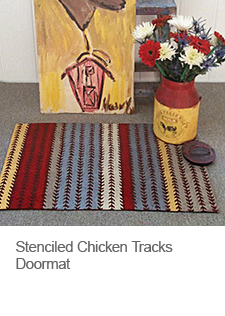 DIY Stenciled Doormat