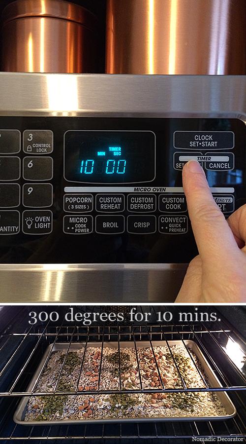 Toasting Homemade Muesli Mix