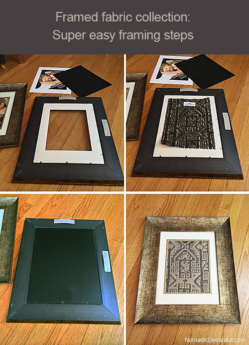 Fabric Collection Framing Steps