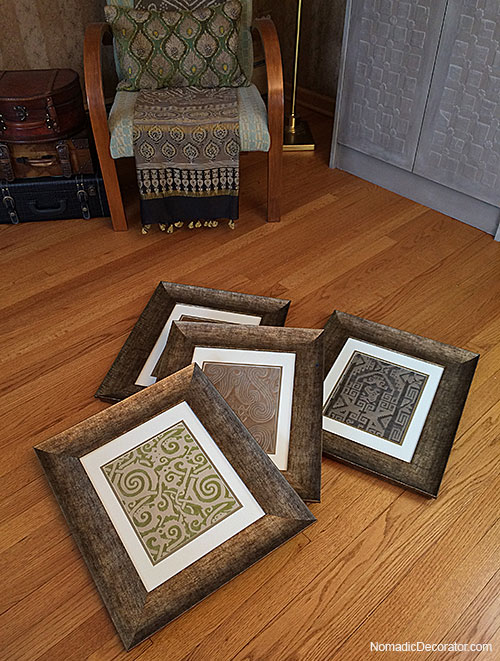 How to Frame a Fortuny Fabric Remnant Collection