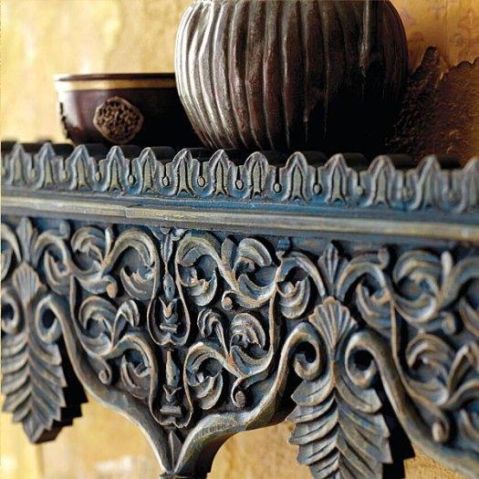 Rajasthani Indian Carved Wood Shelf via World Market
