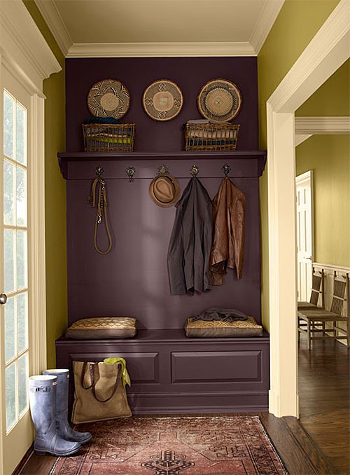 Benjamin Moore Olive and Purple Wall Paint Colors