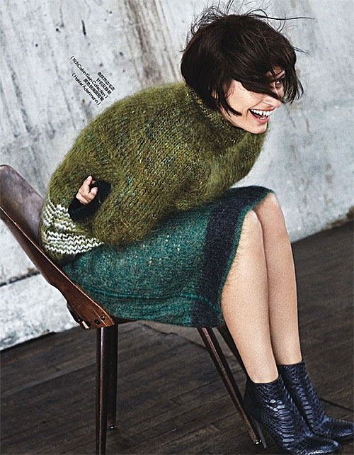 Olive Mohair Sweater