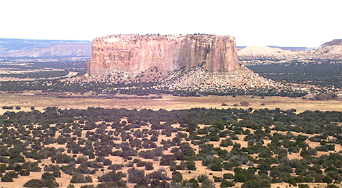 Acoma Pueblo on a Mesa