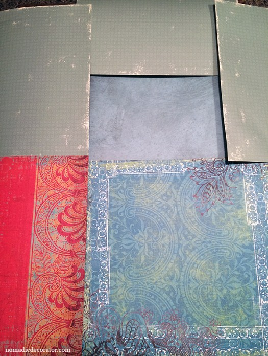 Scrapbook Paper Layout