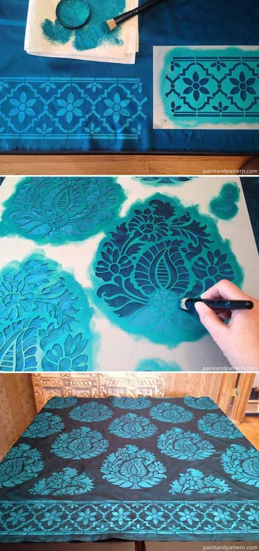 How to Stencil on Silk Fabric