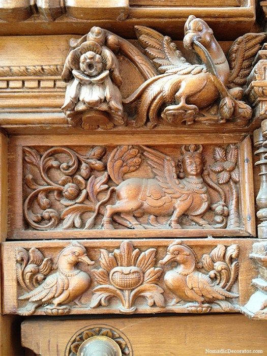 Carved Antique South Indian Door