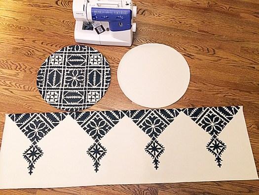Fez Patterned DIY Moroccan Pouf