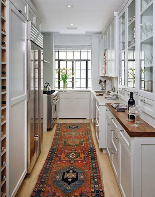 Rug in Kitchen - Architectural Digest
