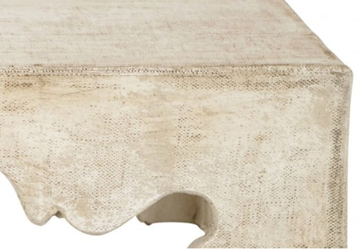 Burlap Covered Coffee Table Texture