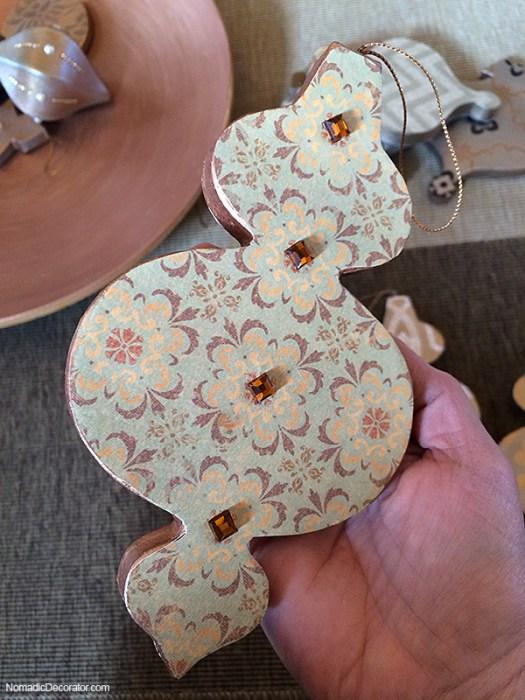 DIY Scrapbook Paper Christmas Tree Ornament