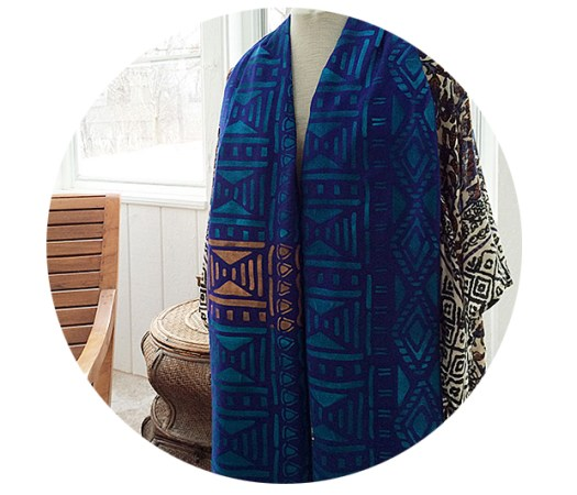 DIY Stenciled Shawl