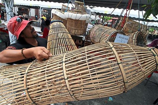 Fish Trap Made of Bamboo via The Star
