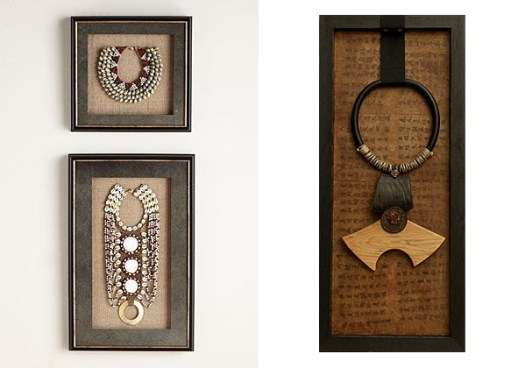 Framed Necklaces from Neiman Marcus and Amalthee Creations