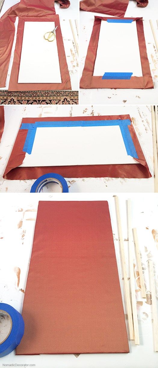 Silk Covered Frame Backing