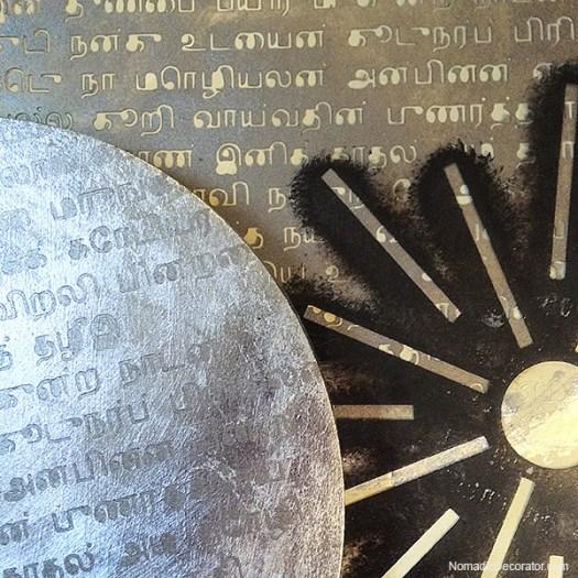 Tamil Script and Surya Stencil