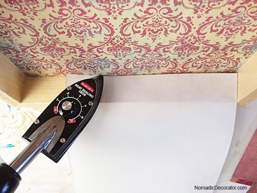 Sealing Decoupage with a Tack Iron