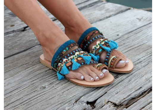 Dimitras Workshop Etsy Store Yasmine Boho Chic Sandals