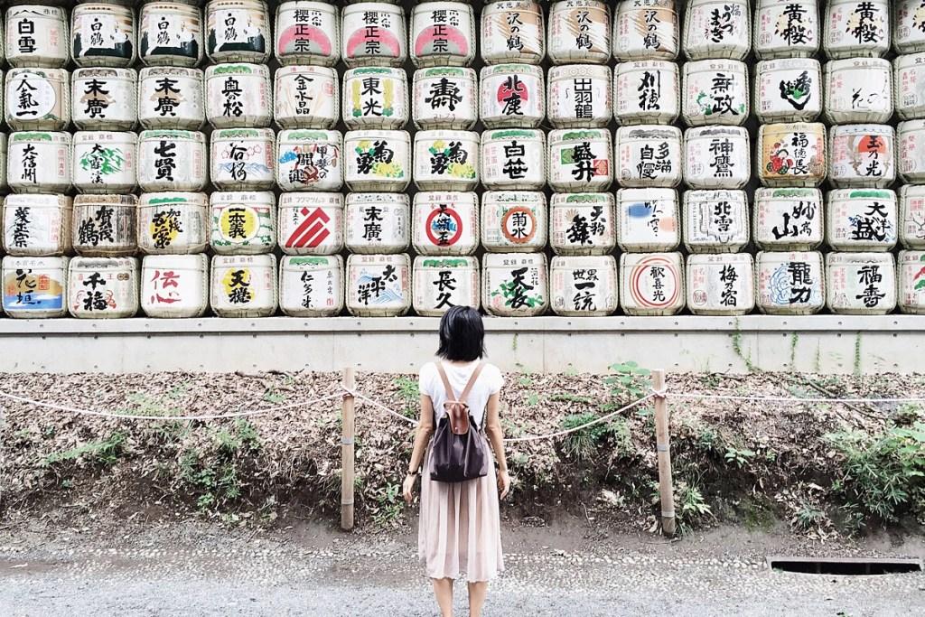 Wendy in Meiji Shrine Tokyo, Japan