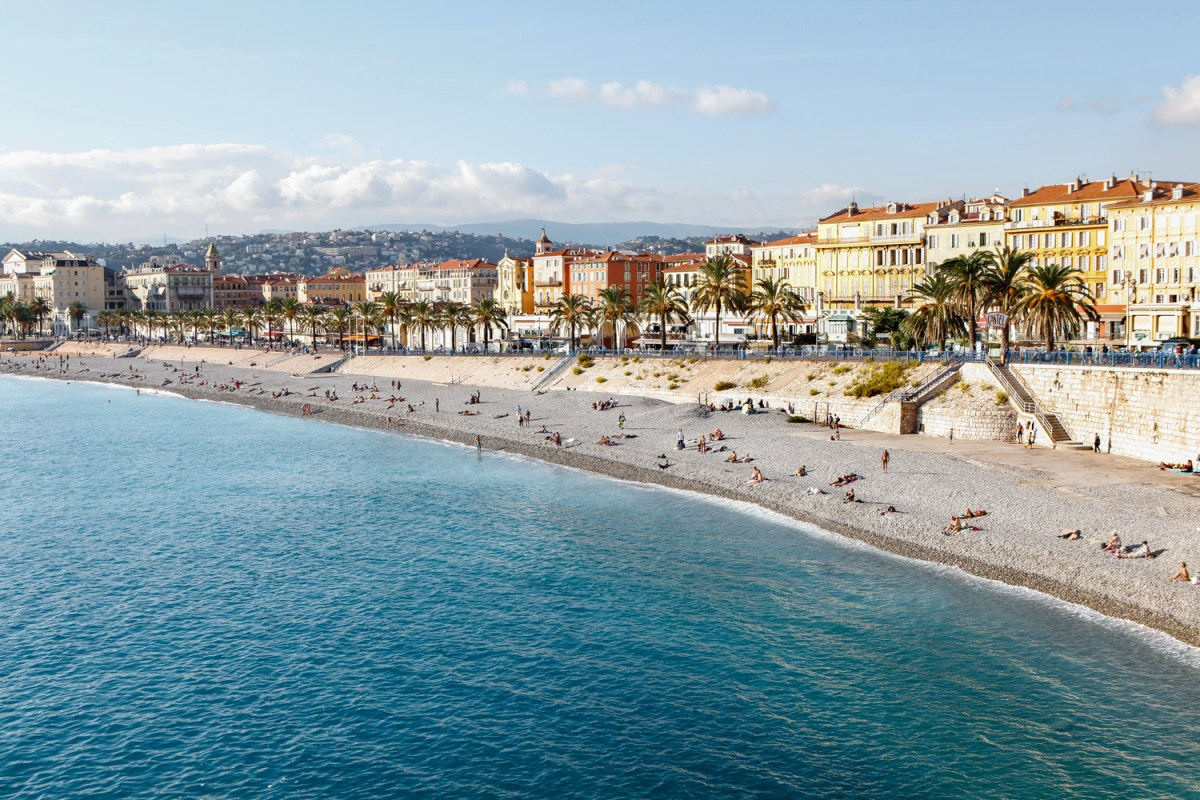 Nice Coastline in the Cote d'Azur