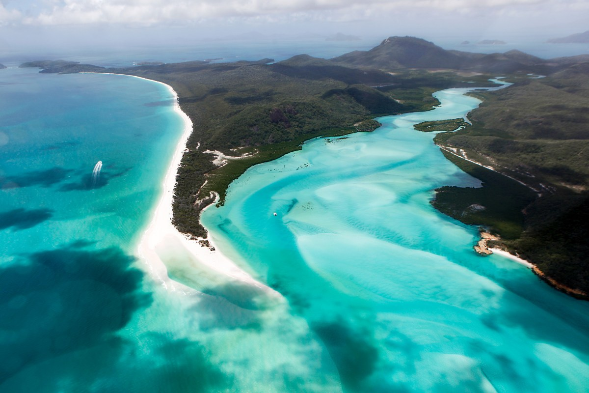 View of Whitehaven Beach in the Whitsundays, Australia