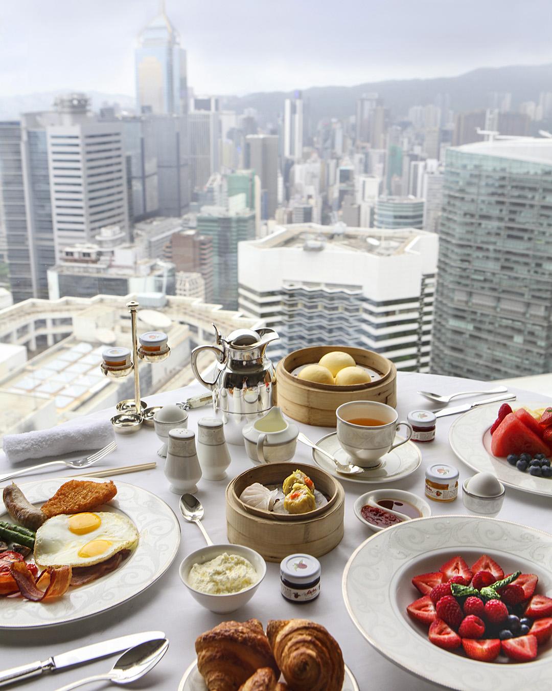 Breakfast Spread, Island Shangri-La, Hong Kong