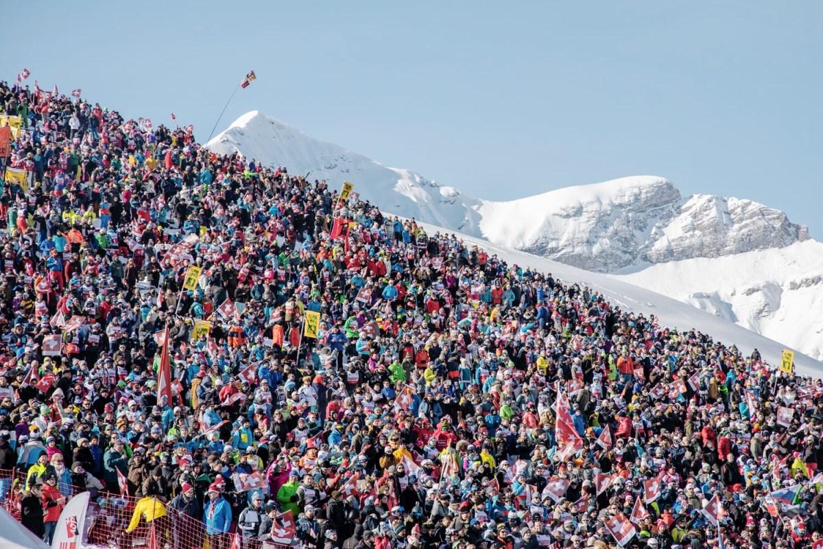 Ski World Cup crowd