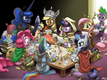 dungeons_and_ponies_plus_one_dragon_by_johnjoseco-d6ybakw