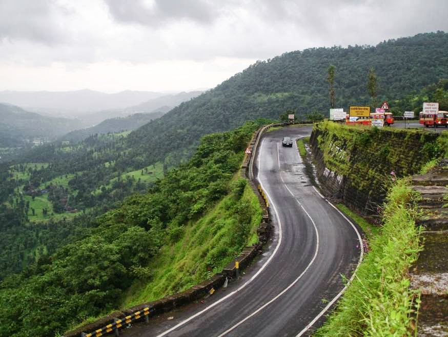 Hair Pin Bends on Kashedi Ghat Near Poladpur