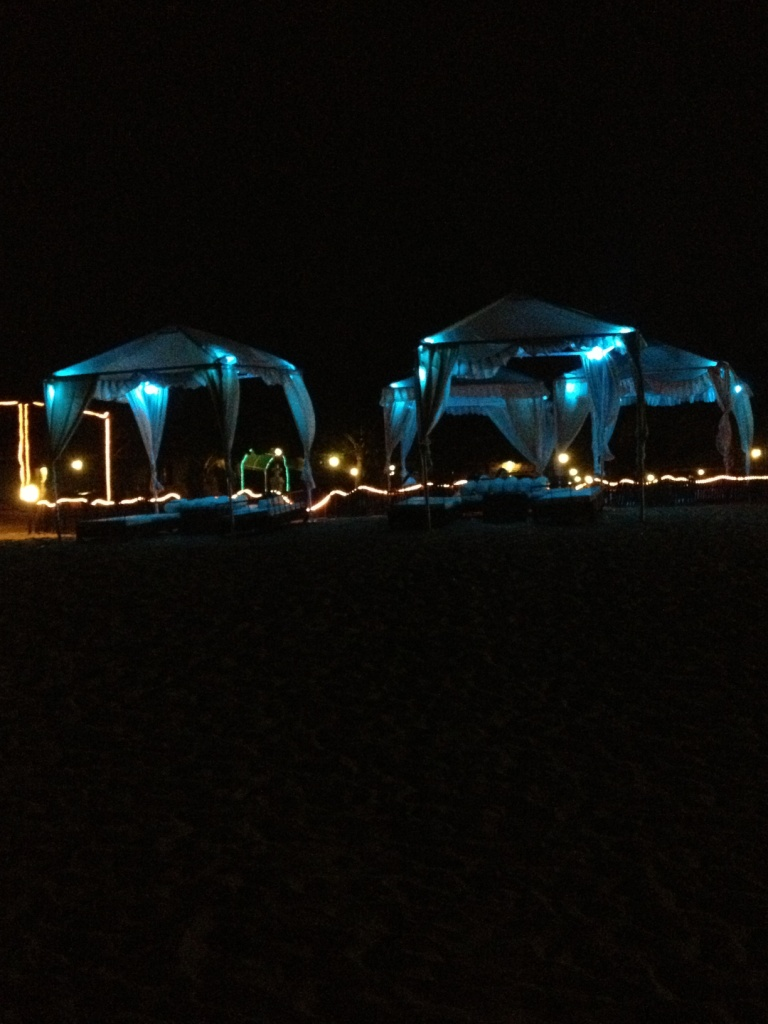 UV lit Tents by the Beach