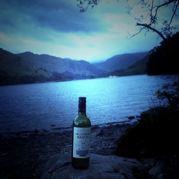 Some White Wine by the Lakeside Please