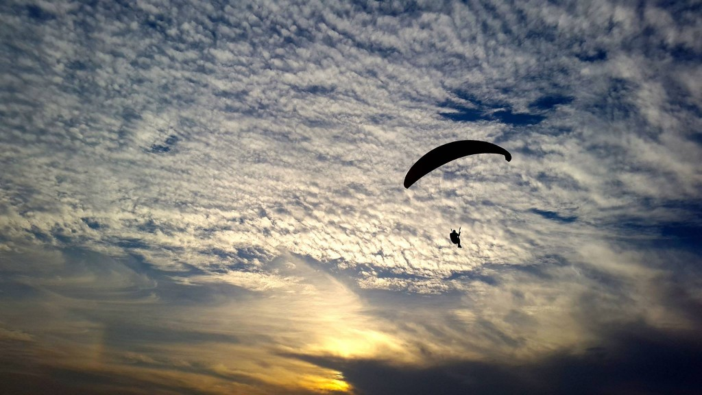 Paragliding In the Company of a Magical Sunset