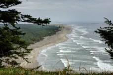 Ocean waves on a sandy beach