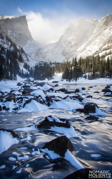 Dream Lake in the grip of winter