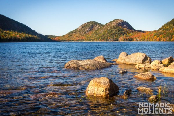 Jordan Pond and the Bubble Mountains