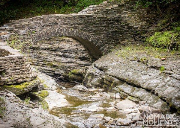 Mile Point Bridge in the Watkins Glen Gorge.