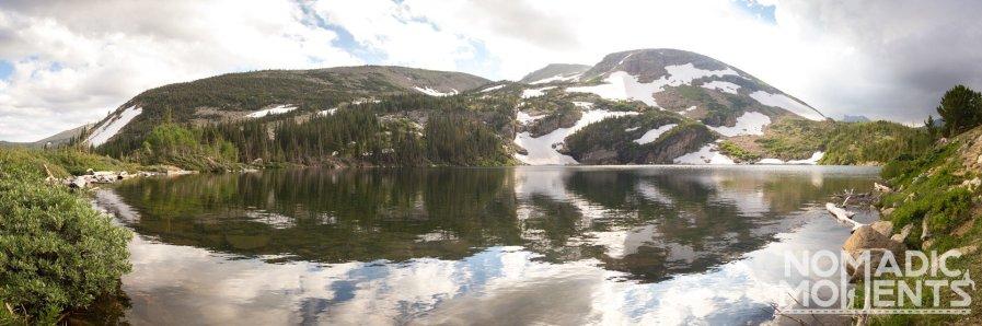 Red Deer Lake and Red Deer Mountain.
