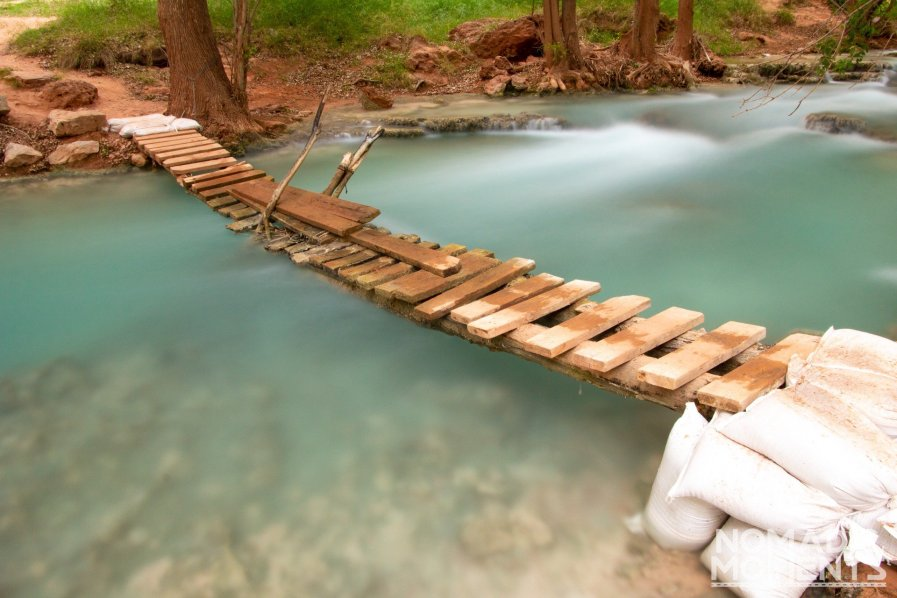 Havasupai Campground foot bridge